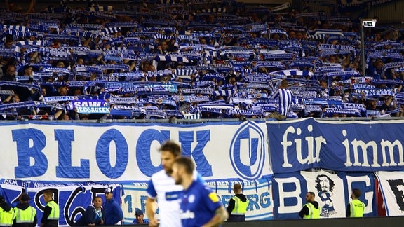 Fans des FC Magdeburg in Kiel