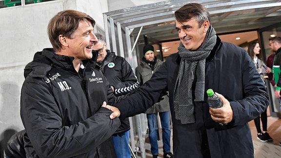 Michael Önning Oenning ( Trainer FC Magdeburg ) Damir Buric (Trainer SpVgg Greuther Fürth )