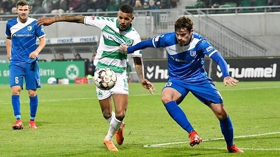 Daniel Keita-Ruel (10. SpVgg Greuther Fürth ) Dennis Erdmann (13, FC Magdeburg )