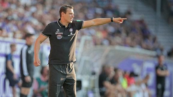 Trainer Marc Hensel,  FC Erzgebirge Aue