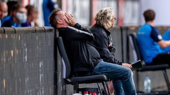 Dynamo Dresden: Trainer Markus Kauczinski und Co-Trainer Heiko Scholz