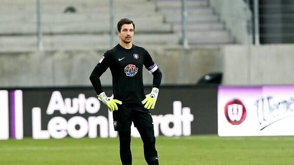 FC Erzgebirge Aue - SSV Jahn Regensburg - Torwart Martin Männel / Maennel (1, Aue)