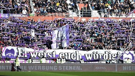 FC St.Pauli Hamburg vs. FC Erzgebirge Aue - Fans von Aue