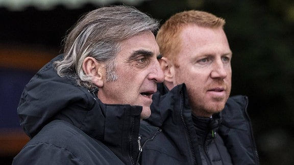 Ralf Minge und Maik Walpurgis (Dynamo Dresden)