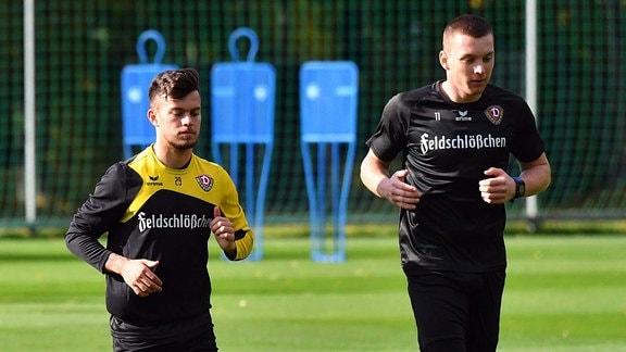 v.l.: Sascha Horvath, Haris Duljevic, SG Dynamo Dresden