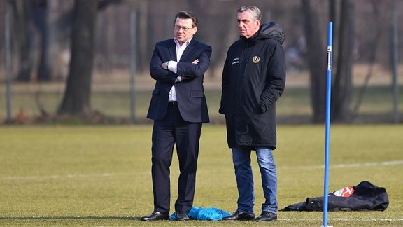 Holger Scholze (Präsident) und Ralf Minge (Sport-Geschäftsführer)