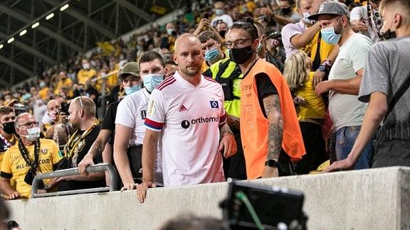 HSV-Spieler und Ex-Dynamo Toni Leistner