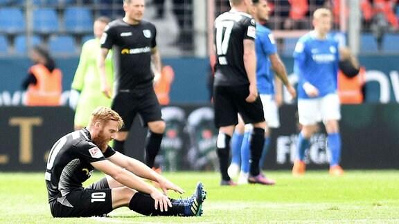 Nico Hammann (FCM) enttäuscht.