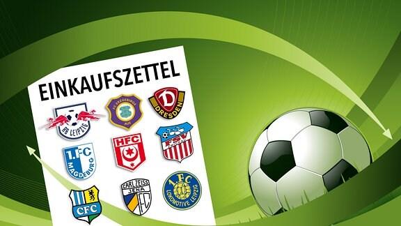 Wechselbörse Übersicht 1. Bundesliga bis 3. Liga Saison 2016/17 - RBL, Dynamo, Aue, Magdeburg, Chemnitz, Erfurt, Halle
