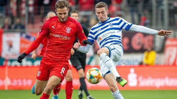 Pascal Sohm HFC gegen Arne Sicker Duisburg