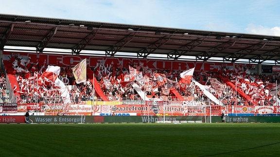 Choreografie der Halle Fans Hallescher FC