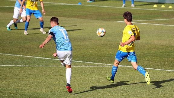 Erik Tallig Chemnitzer FC erzielt das Tor zum 0:1