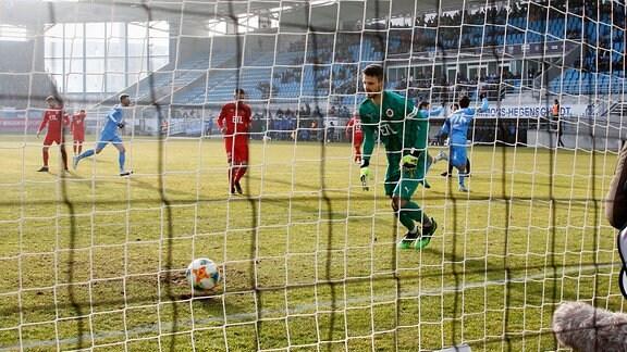 Philipp Hosiner CFC verwandelt einen Foulelfmeter zum 1:0 für den CFC