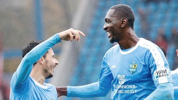 Philipp Hosiner und Tarsis Bonga Beide CFC.
