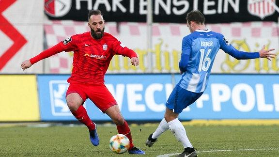 v.l.: Christopher Handke 3, Zwickau und Florian Egerer 16, Meppen