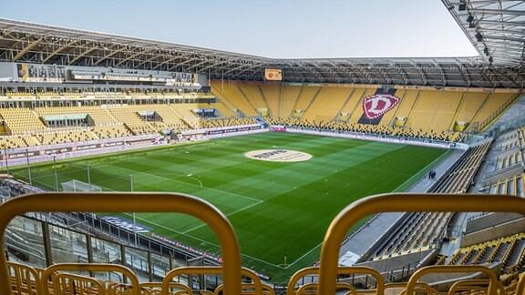 SG Dynamo Dresden - das leere Rudolf-Harbig-Stadion