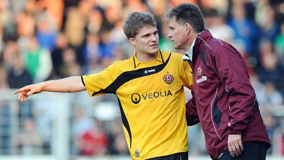 Florian Jungwirth mit Trainer Ralf Loose