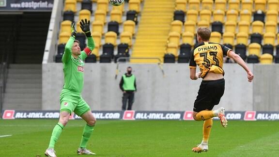 Christoph Daferner erzielt das 1:0, Rene Vollath