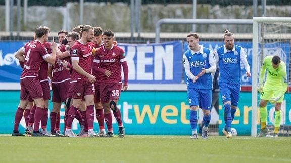 Dresden jubelt nach 0:1-Treffer