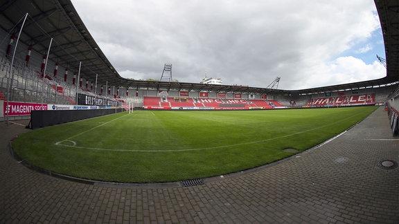 Erdgas Sportpark ohne Zuschauer