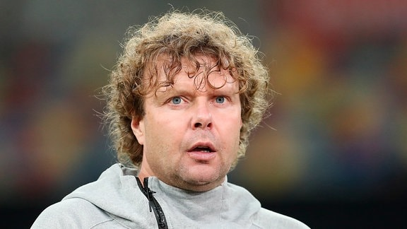 Stefan Krämer (Trainer 1. FC Magdeburg) - Punktspiel KFC Uerdingen vs. 1. FC Magdeburg in der Merkur Spiel Arena in Düsseldorf