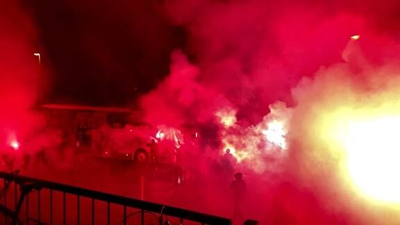 1. FC Magdeburg FCM Pyro Pyrotechnik