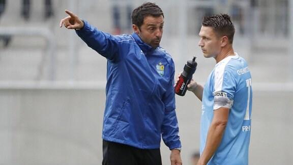 Daniel Frahn und Co-Trainer Sreto Ristic