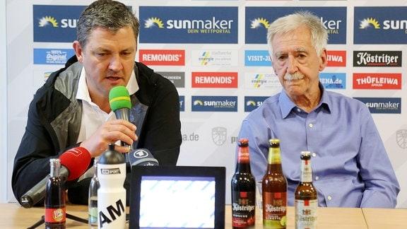 Jena: Geschäftsführer Chris Förster und Präsident Klaus Berka
