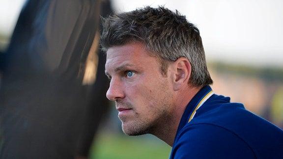 Lukas Kwasniok (Trainer und Sportdirektor Carl Zeiss Jena) beim Landespokalspiel Großengottern vs. Jena (06.09.2019)