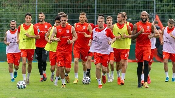 Training beim Halleschen FC