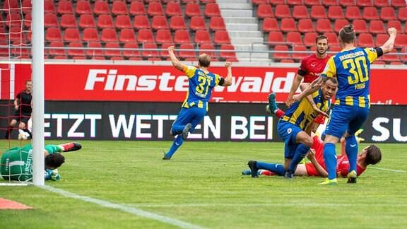 Steffen Nkansah trifft zum 0:1