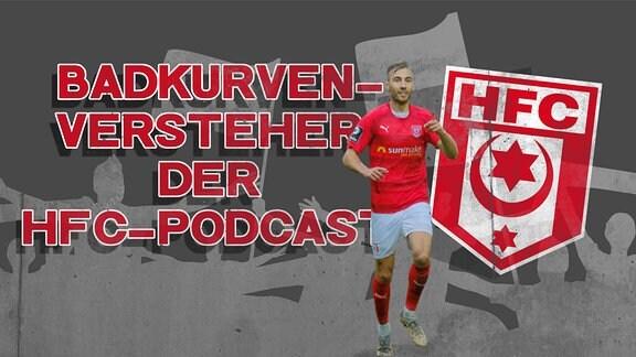 Das Bild zeigt das Logo des Podcasts Badkurvenversteher mit Michael Eberwein vom HFC.