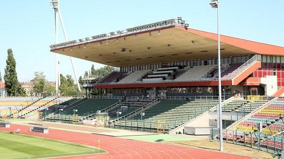Sportstätte Stadion Friedrich-Ludwig-Jahn-Sportpark vor dem Abriss.