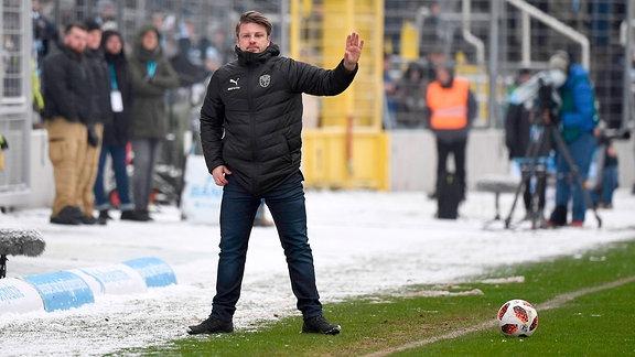 1860 München - FC Carl Zeiss Jena, Trainer Lukas Kwasniok (FC Carl Zeiss Jena)
