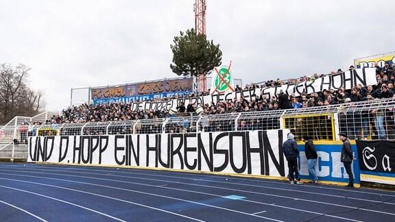 Anti-Hopp-Banner in Jena