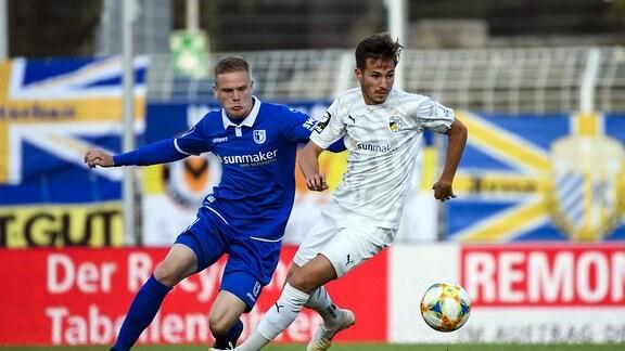 v.r. Daniele Gabriele (FC Carl-Zeiss Jena), Thore Jacobsen (1. FC Magdeburg)