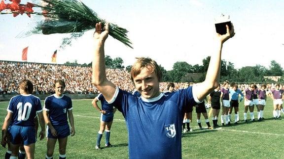 Joachim Streich wird zum Fussballer des Jahres 1979 in der DDR ausgezeichnet