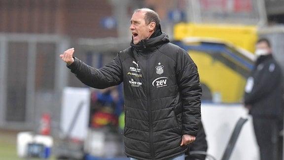 Trainer Joe Enochs (FSV Zwickau)