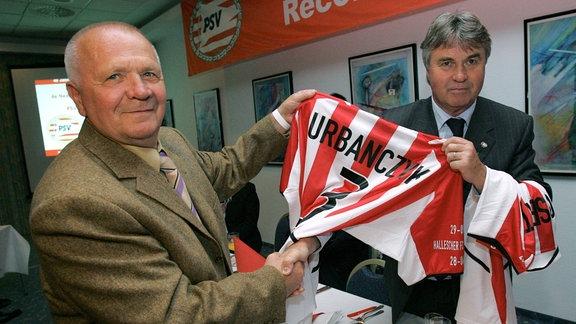 Klaus Urbanczyk und Guus Hiddink