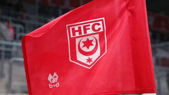 Fahne mit Logo Hallescher FC