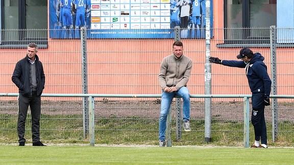 Mario Kallnik, Maik Franz und Claus-Dieter Wollitz