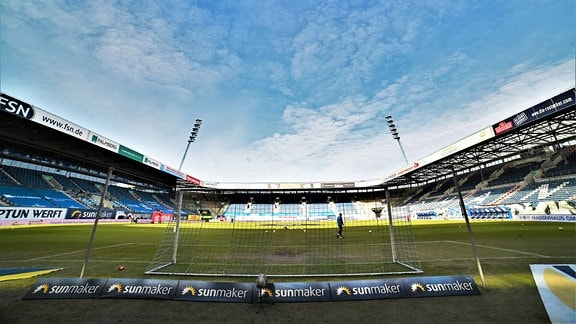 Das Innere des Ostseestadions Rostock