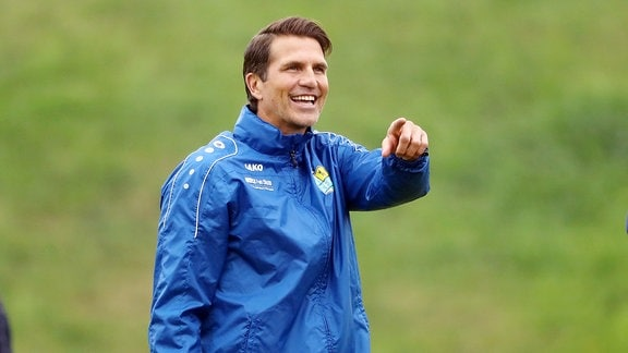 Erste Trainingseinheit mit Patrick Glöckner, Trainer Chemnitzer FC.