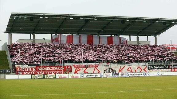 Heimspiel im Stadion Zwickau