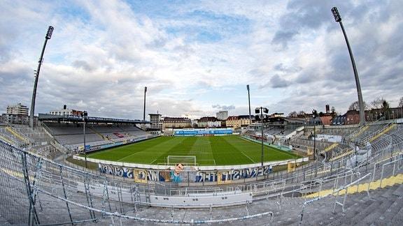 Weitwinkel-HDR-Aufnahme vom Stadion