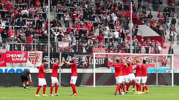 Testspiel Hallescher FC - Holstein Kiel (2:2)