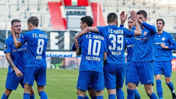 1:1 für Rostock durch Korbinian Vollmann (Hansa Rostock)