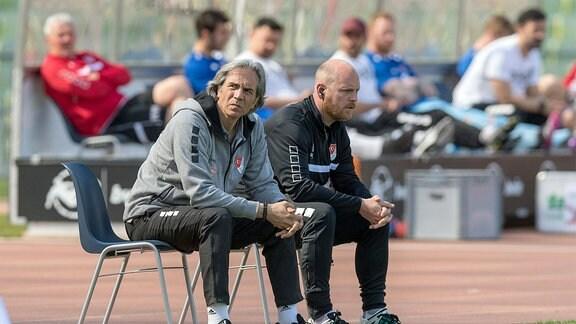 Trainer Serdar Dayat und Co Andreas Pummer