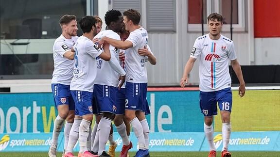 Gustav Marcussen KFC Uerdingen Torjubel,jubelt mit seiner Mannschaft nach dem Treffer zum 1:0