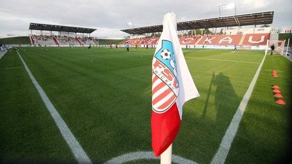 Stadionansicht FSV Zwickau mit Eckfahne